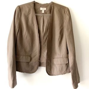 LOFT Factory Brown Linen Blend Career Blazer 10